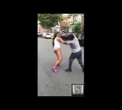 Girl Removes Underwear To Fight